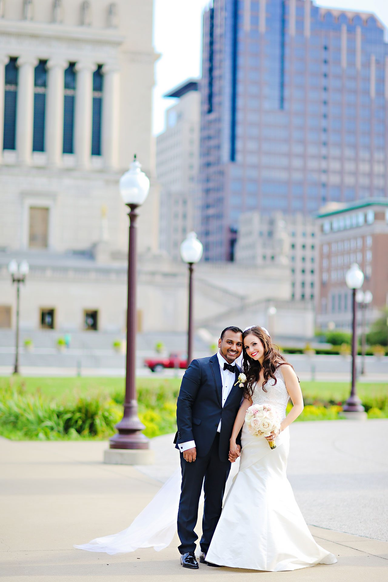 Rebekah Matthew Indianapolis Library Wedding 166