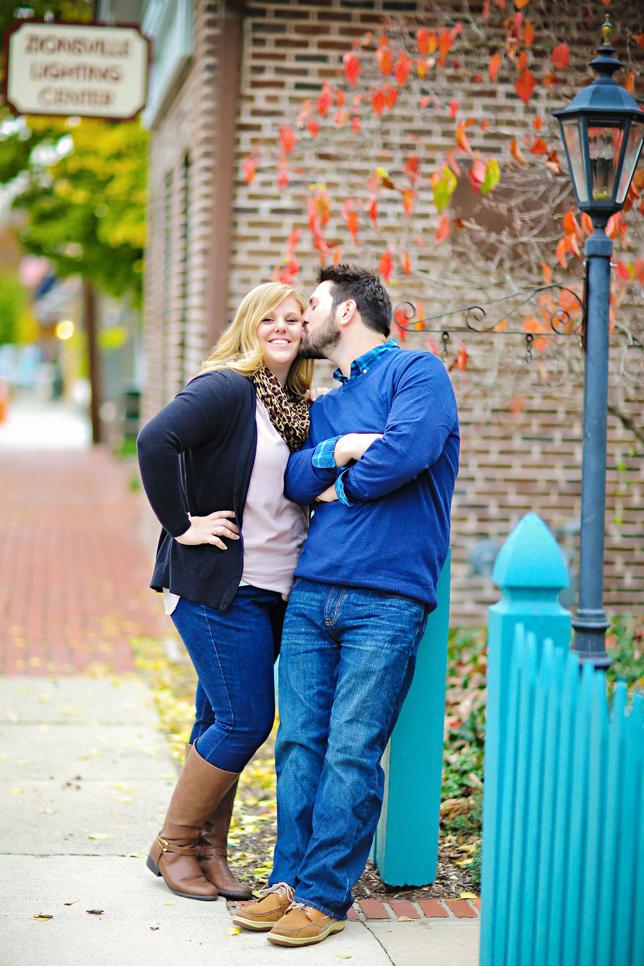 015 Kellie Greg Zionsville Engagement Session