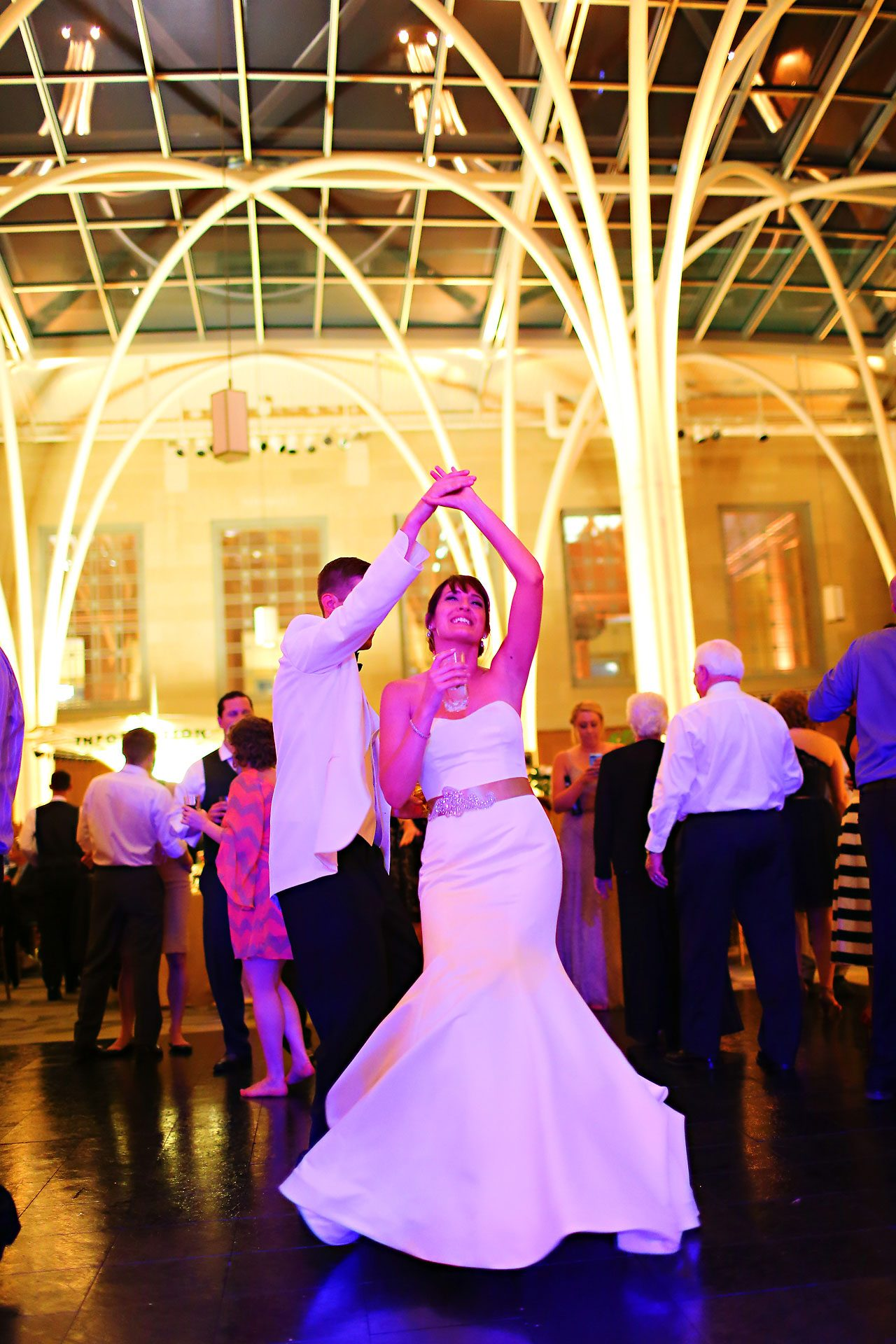 Christine Ryan Indianapolis Central Library Wedding 360