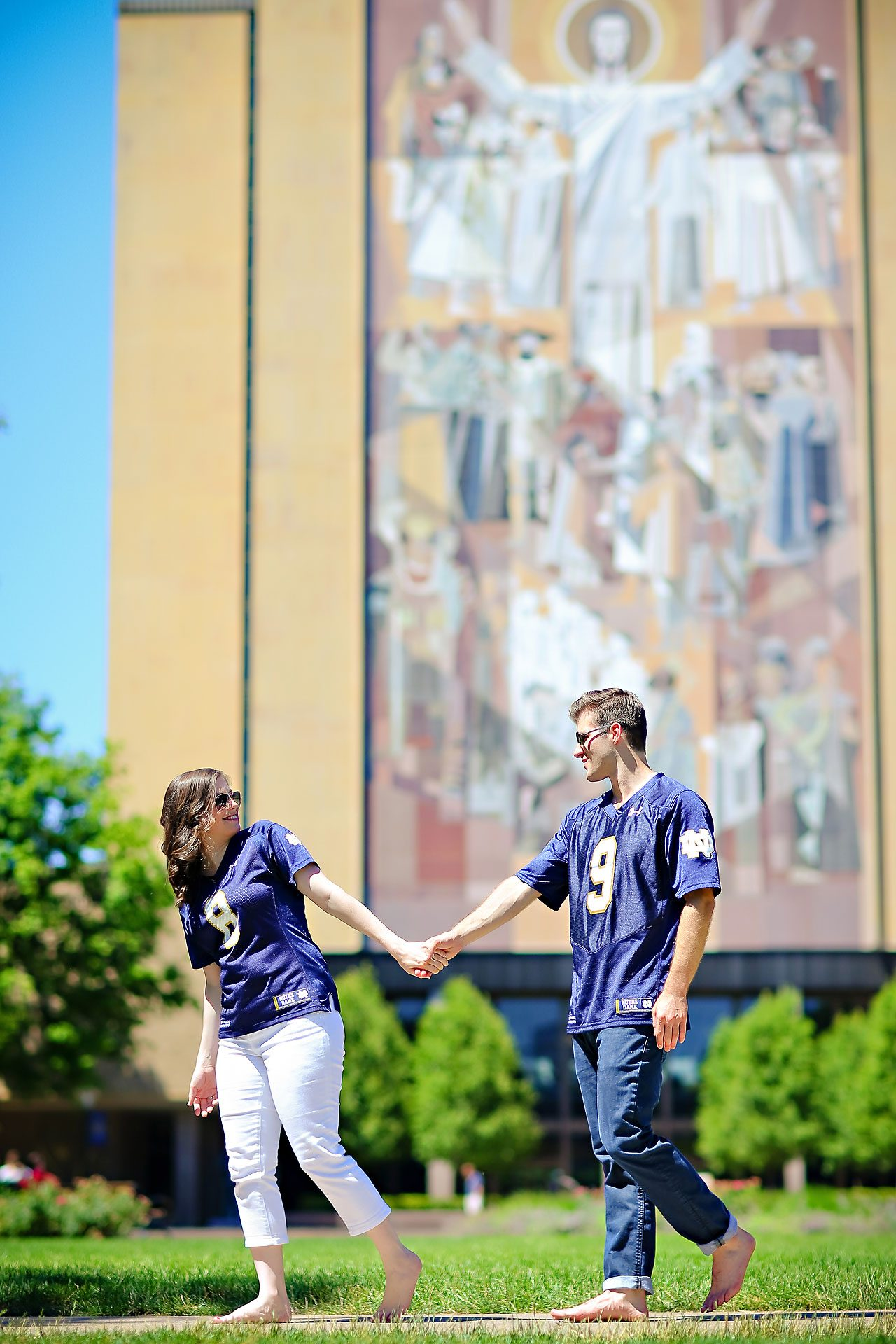 Jessie Chris Notre Dame Engagement Session 015