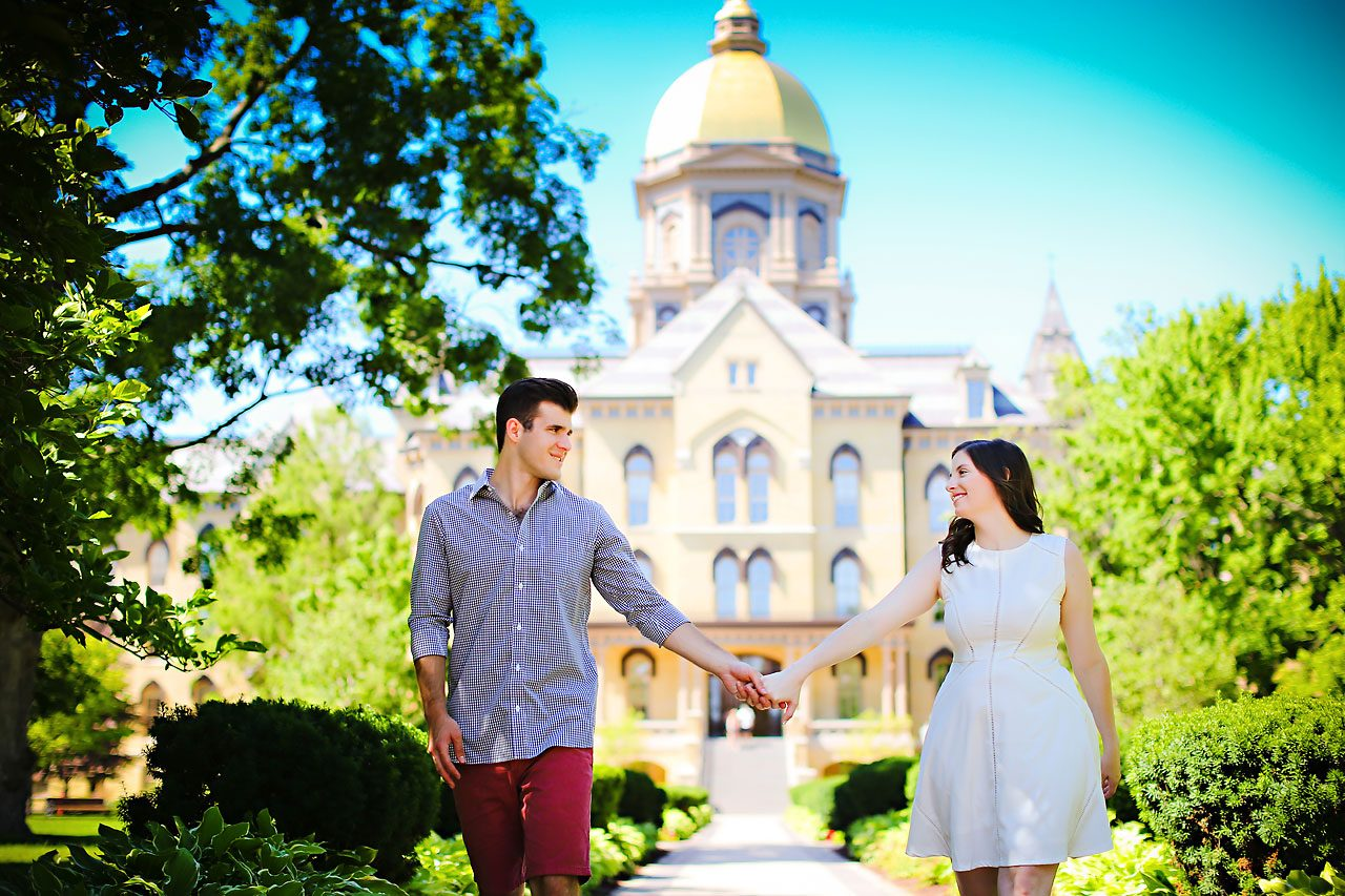 Jessie Chris Notre Dame Engagement Session