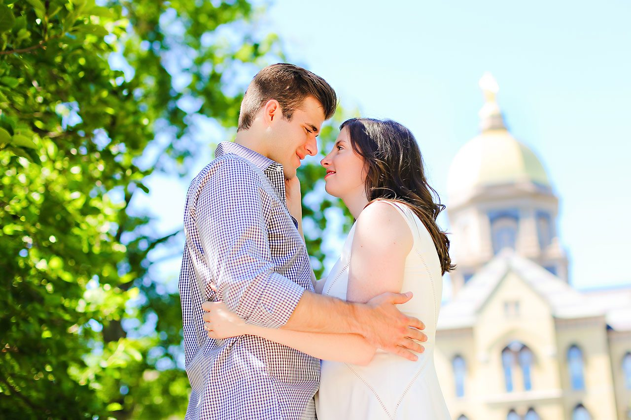 Jessie Chris Notre Dame Engagement Session 087