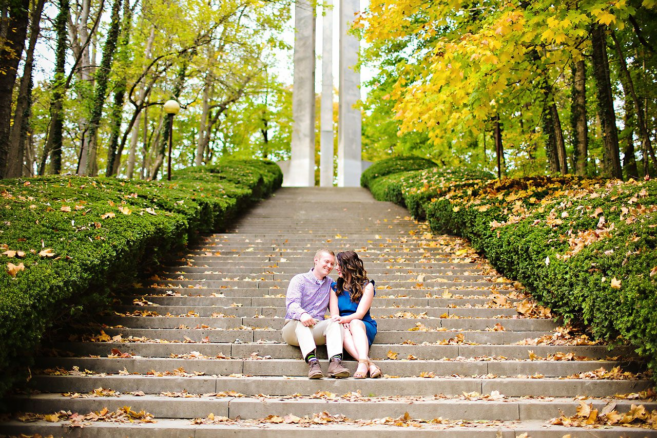 Stephanie Zach Butler University Engagement Session