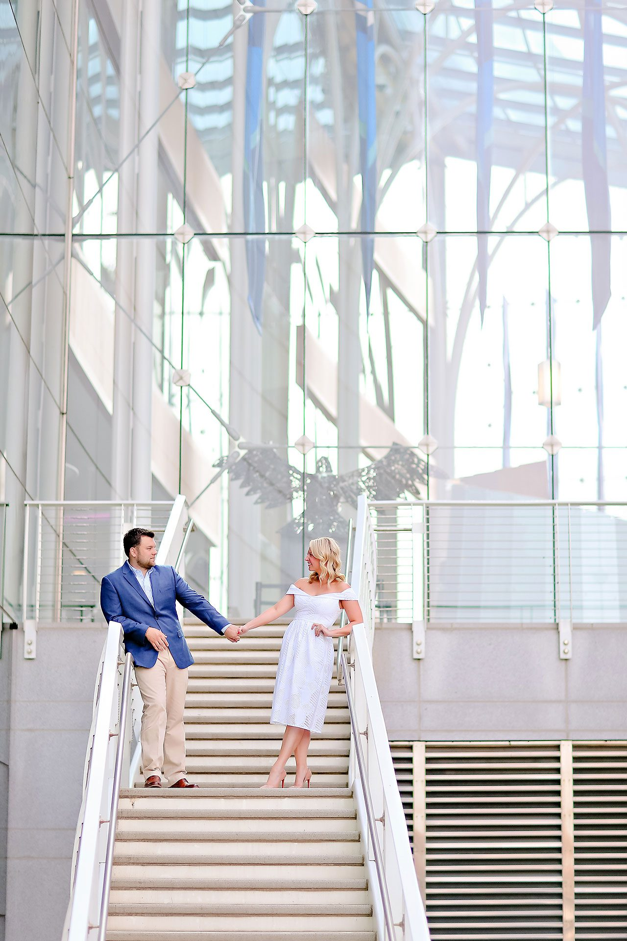 Chelsea Tom Downtown Indianapolis Engagement Session 001