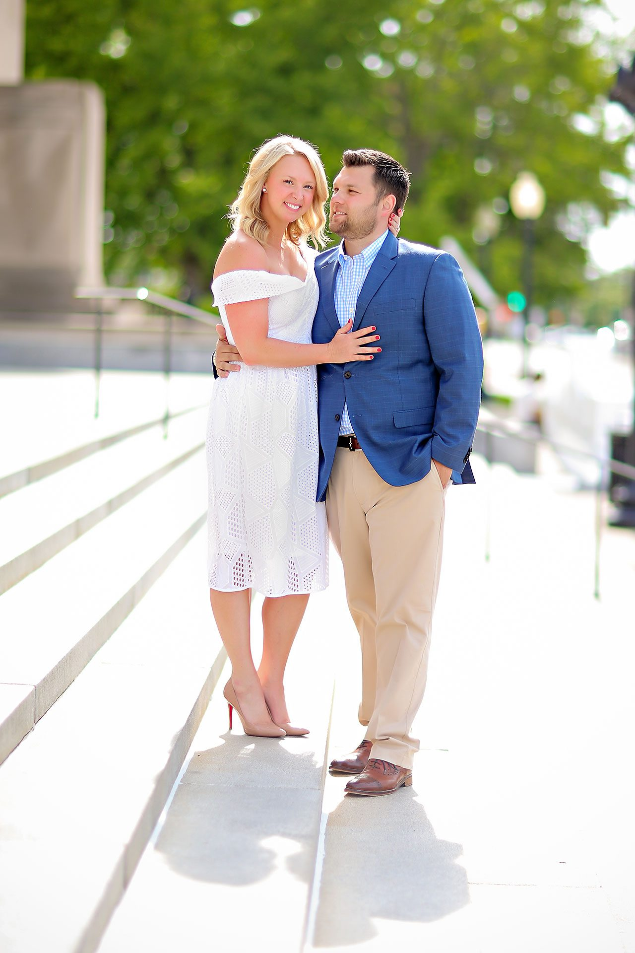 Chelsea Tom Downtown Indianapolis Engagement Session 008