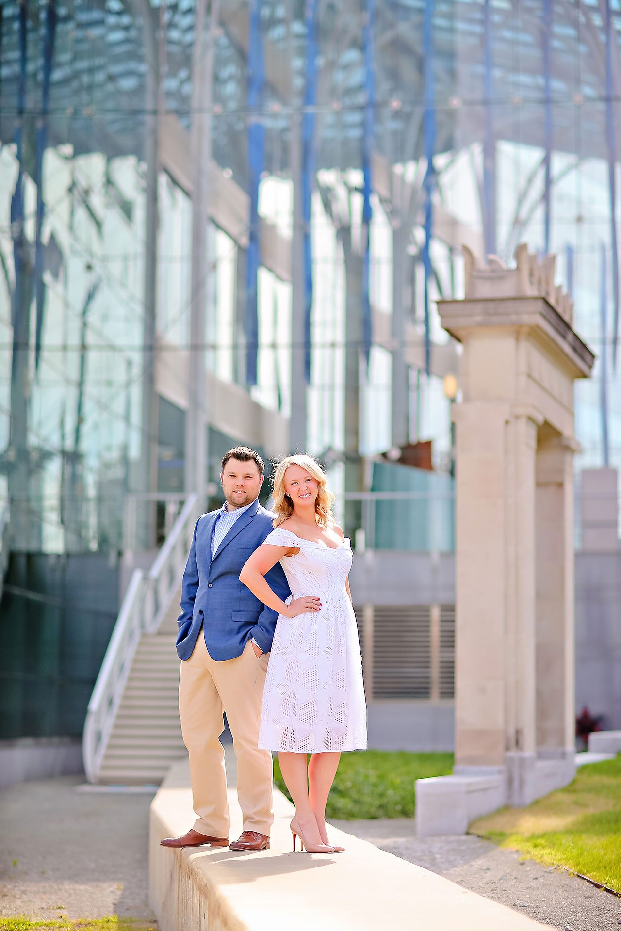 Chelsea Tom Downtown Indianapolis Engagement Session 009