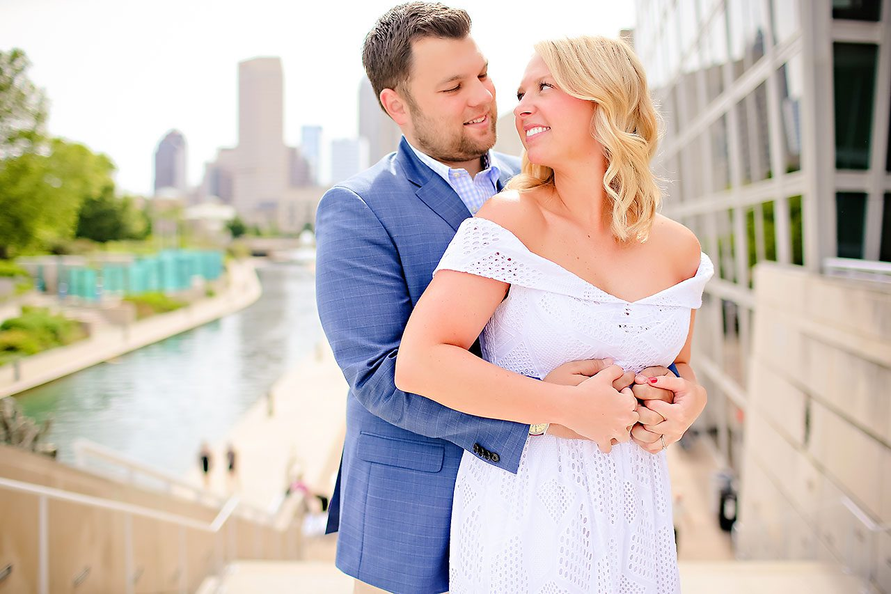 Chelsea Tom Downtown Indianapolis Engagement Session 016