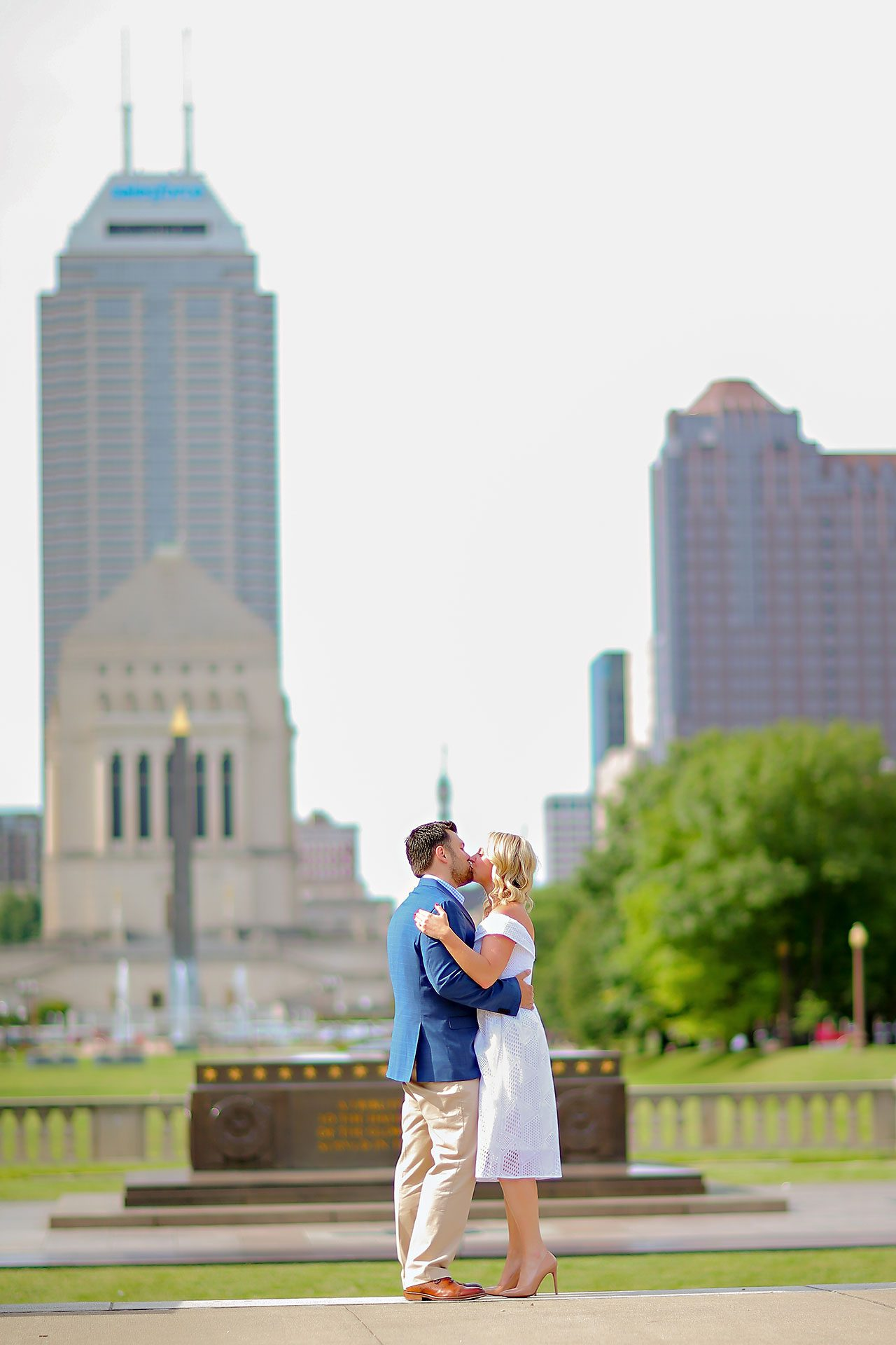 Chelsea Tom Downtown Indianapolis Engagement Session 025