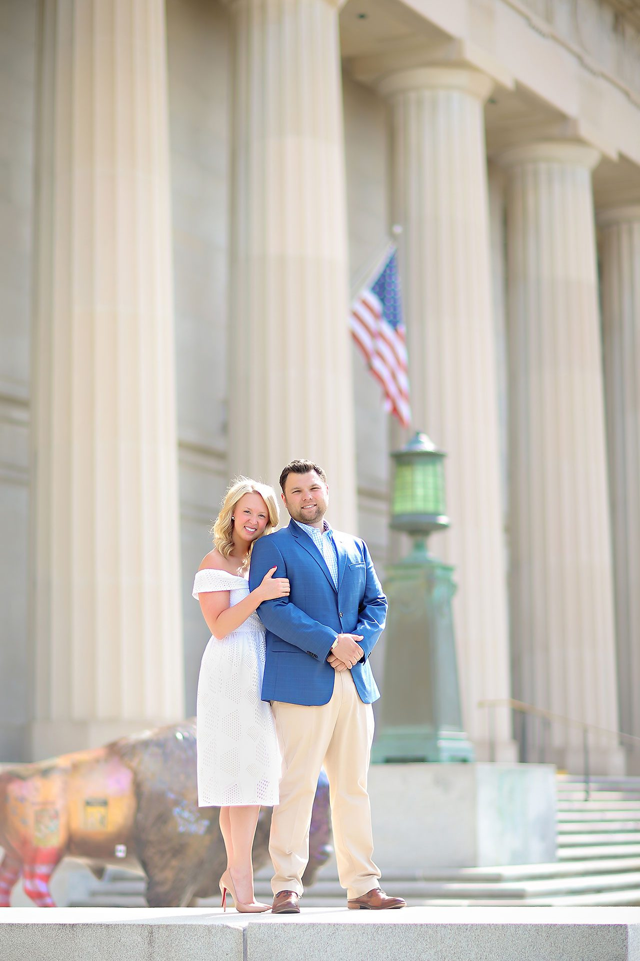 Chelsea Tom Downtown Indianapolis Engagement Session 043
