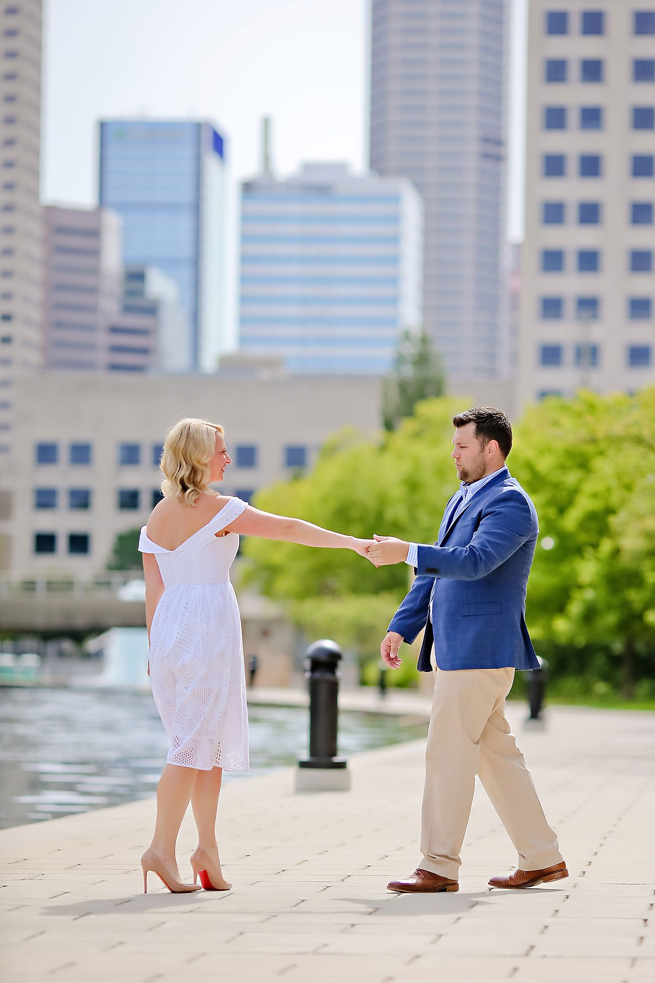 Chelsea Tom Downtown Indianapolis Engagement Session 046