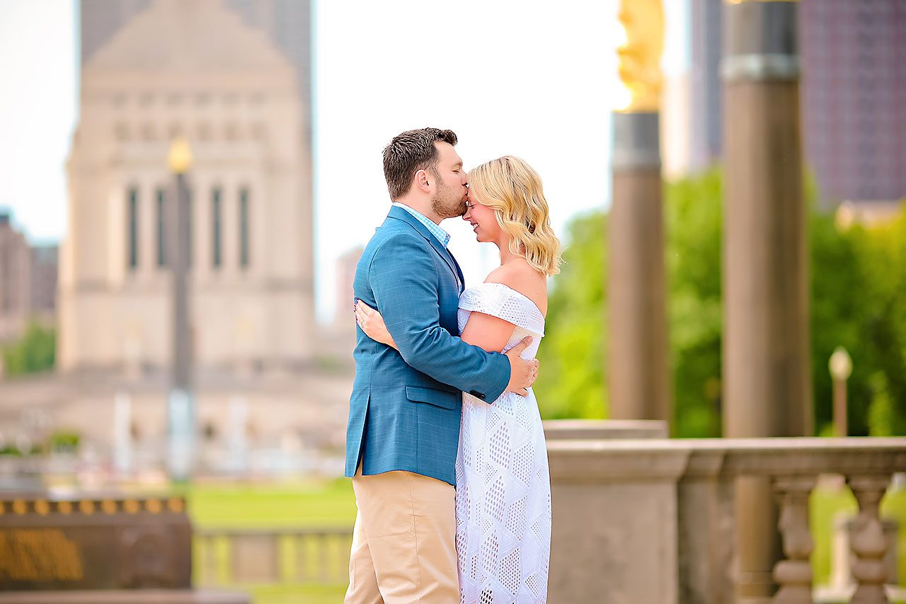 Chelsea Tom Downtown Indianapolis Engagement Session 048