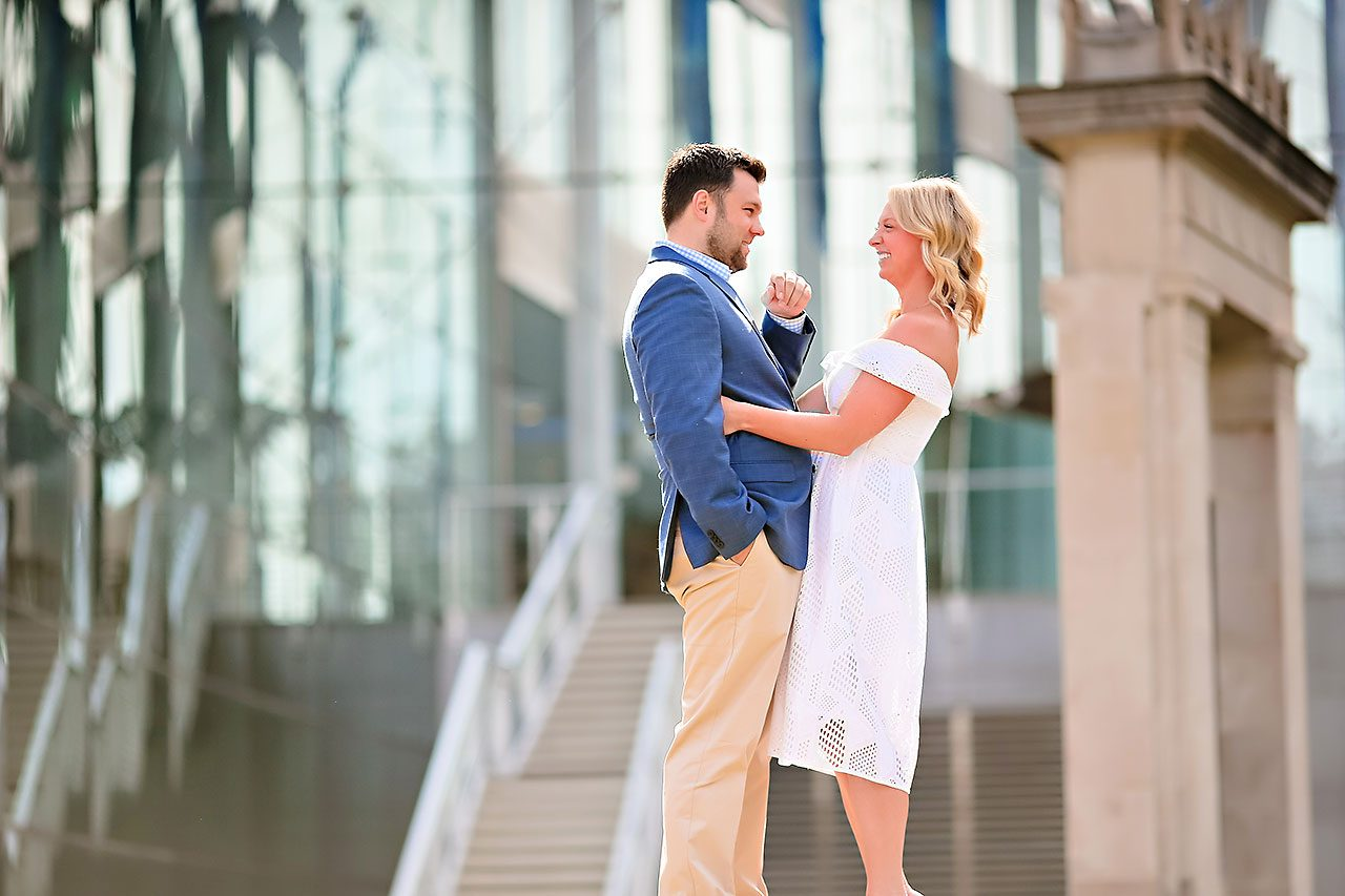 Chelsea Tom Downtown Indianapolis Engagement Session 053