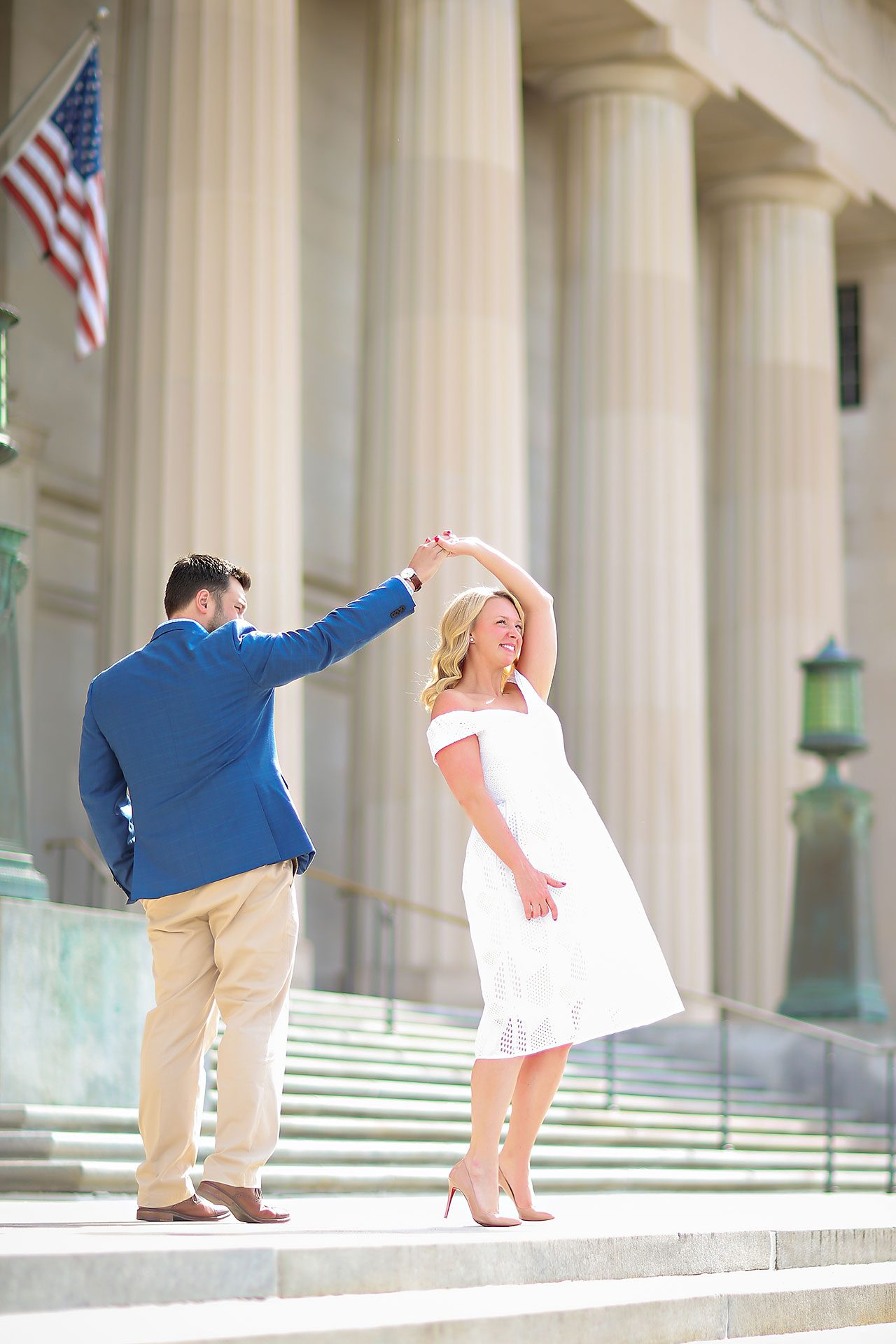 Chelsea Tom Downtown Indianapolis Engagement Session 059