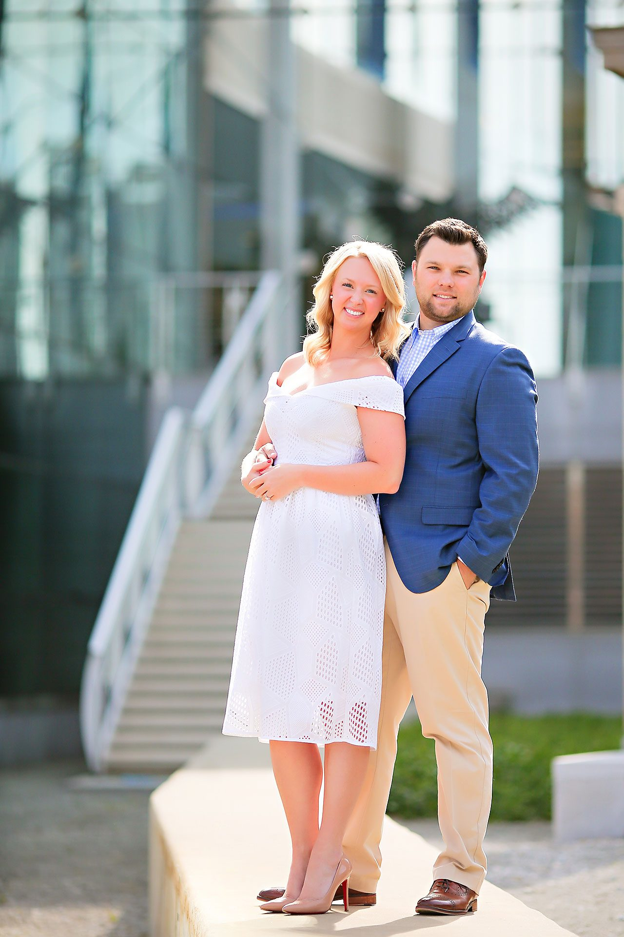 Chelsea Tom Downtown Indianapolis Engagement Session 062