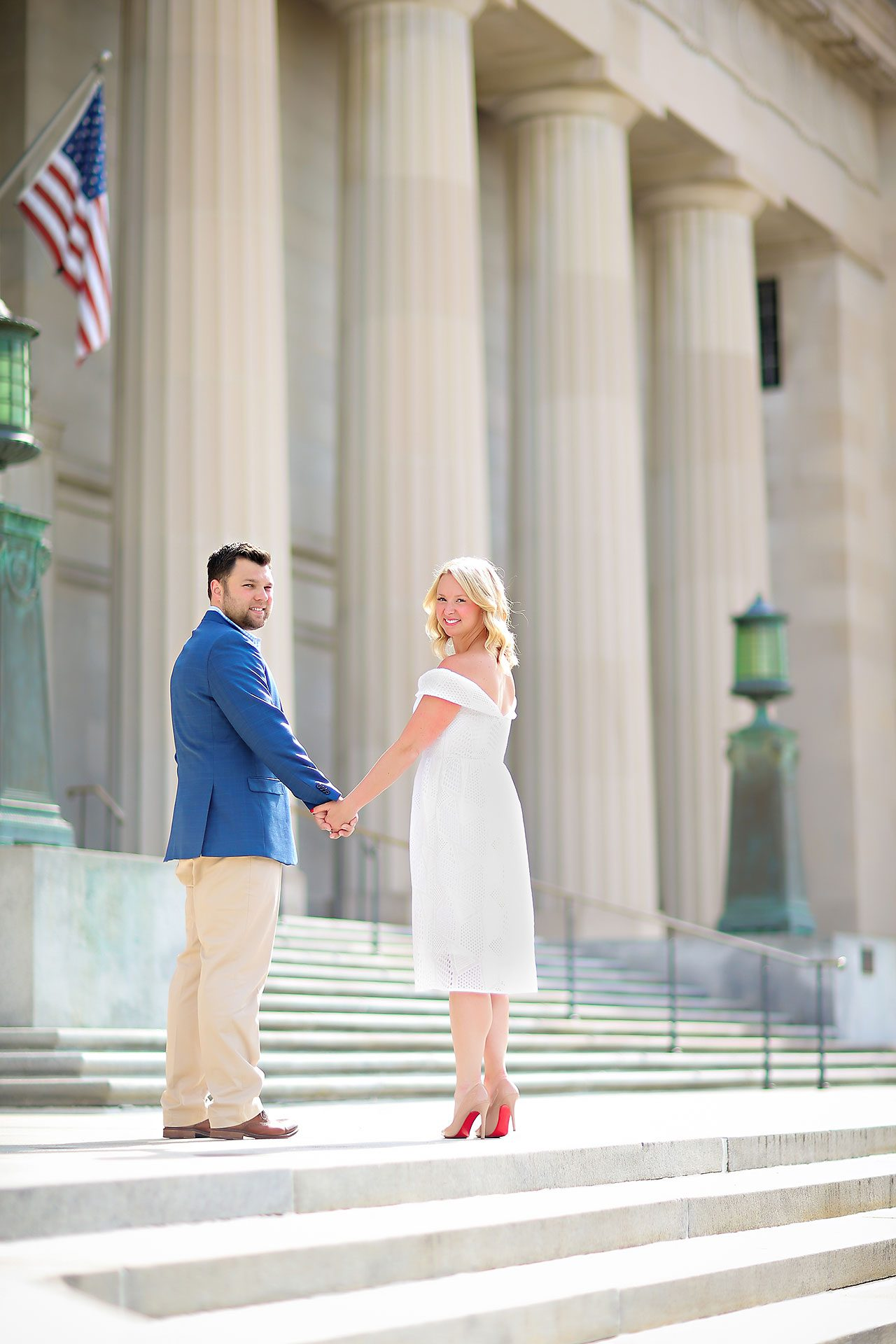 Chelsea Tom Downtown Indianapolis Engagement Session 073