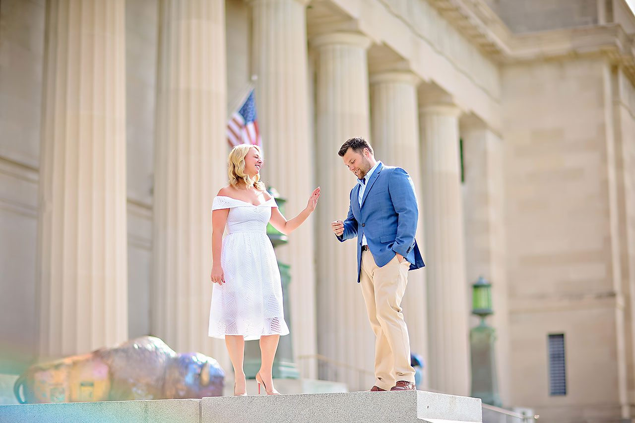 Chelsea Tom Downtown Indianapolis Engagement Session 082