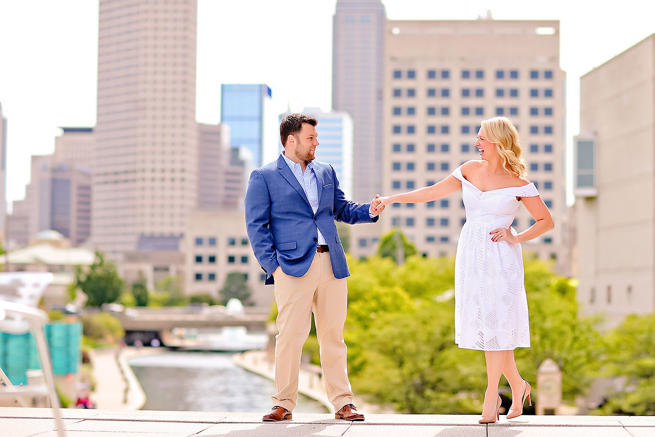 Chelsea Tom Downtown Indianapolis Engagement Session 083