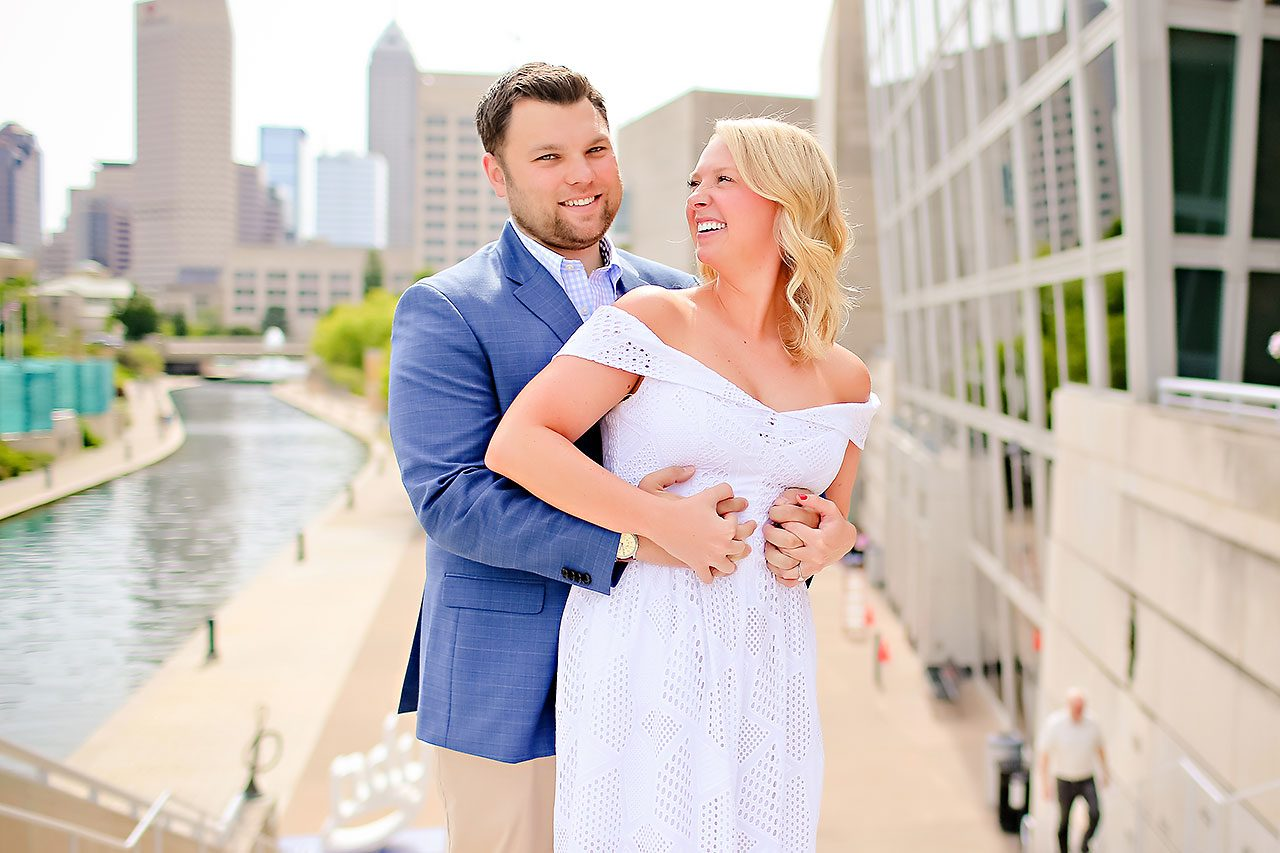 Chelsea Tom Downtown Indianapolis Engagement Session 084