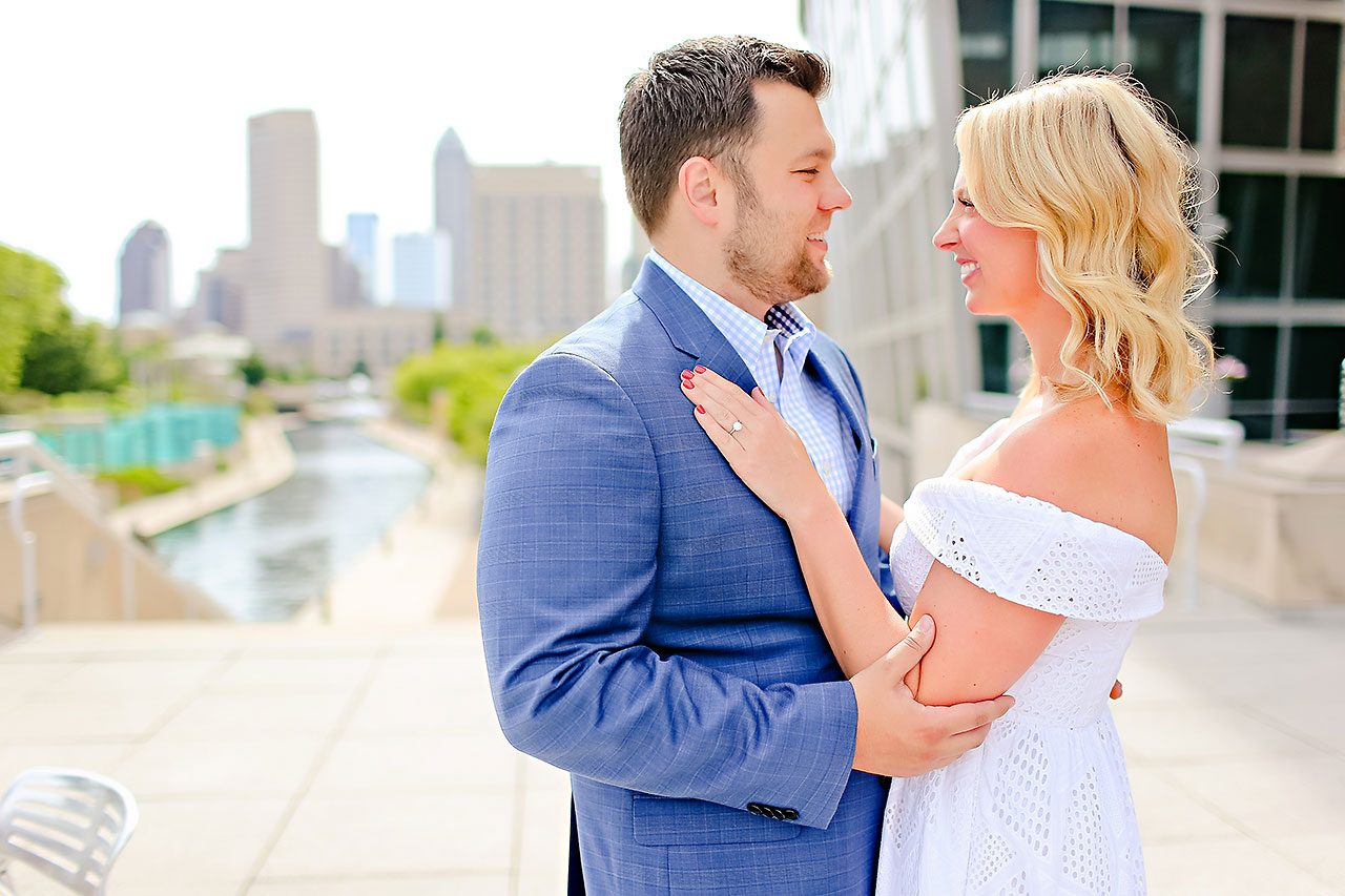 Chelsea Tom Downtown Indianapolis Engagement Session 085