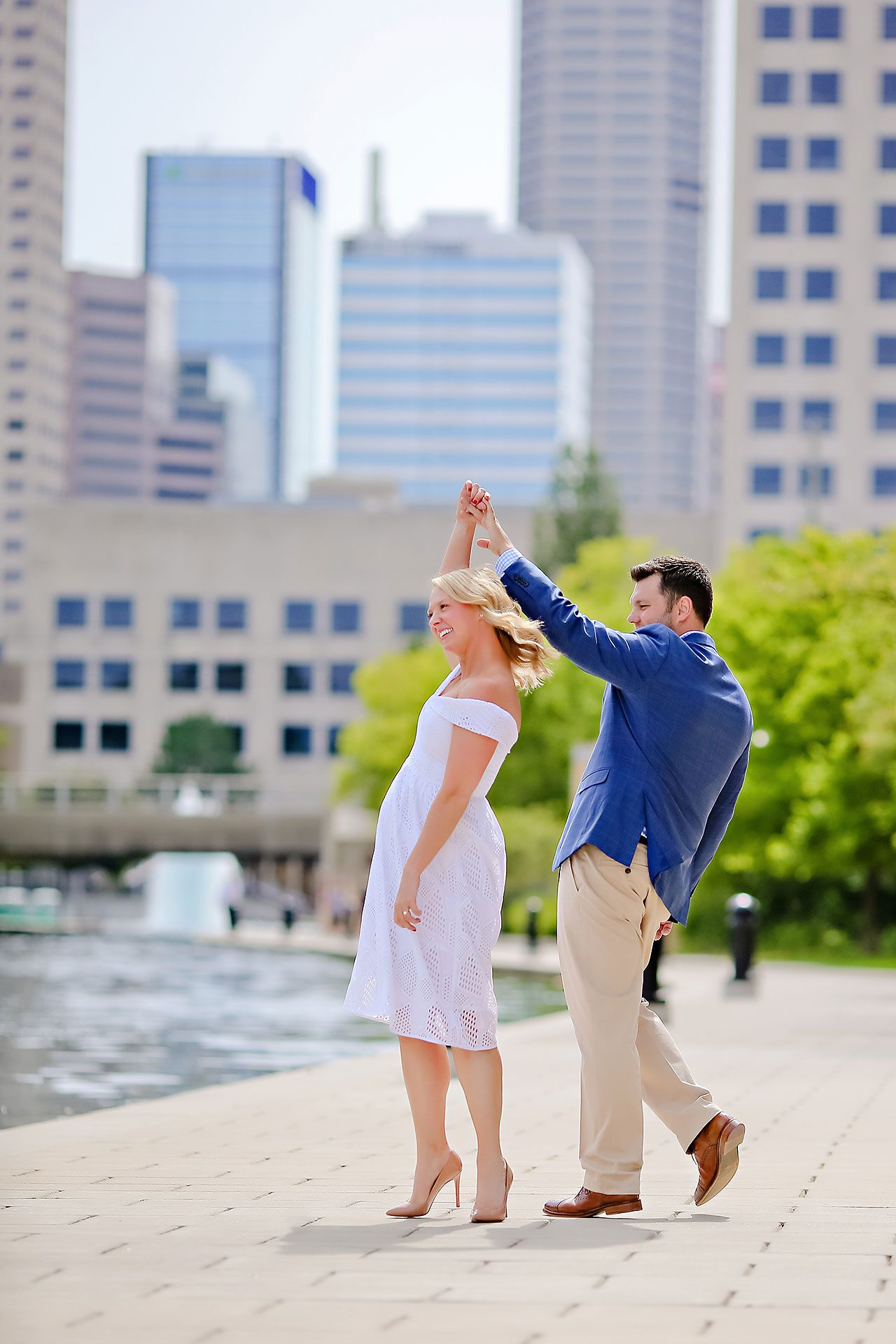Chelsea Tom Downtown Indianapolis Engagement Session 095
