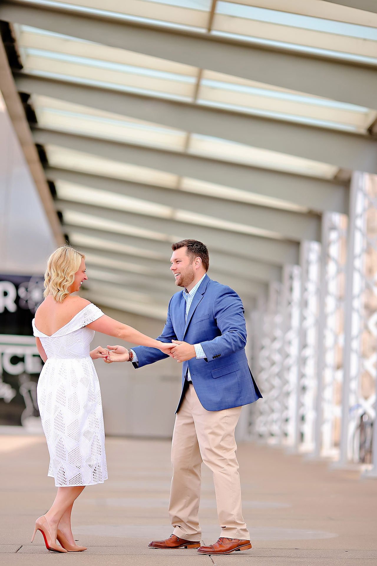 Chelsea Tom Downtown Indianapolis Engagement Session 106