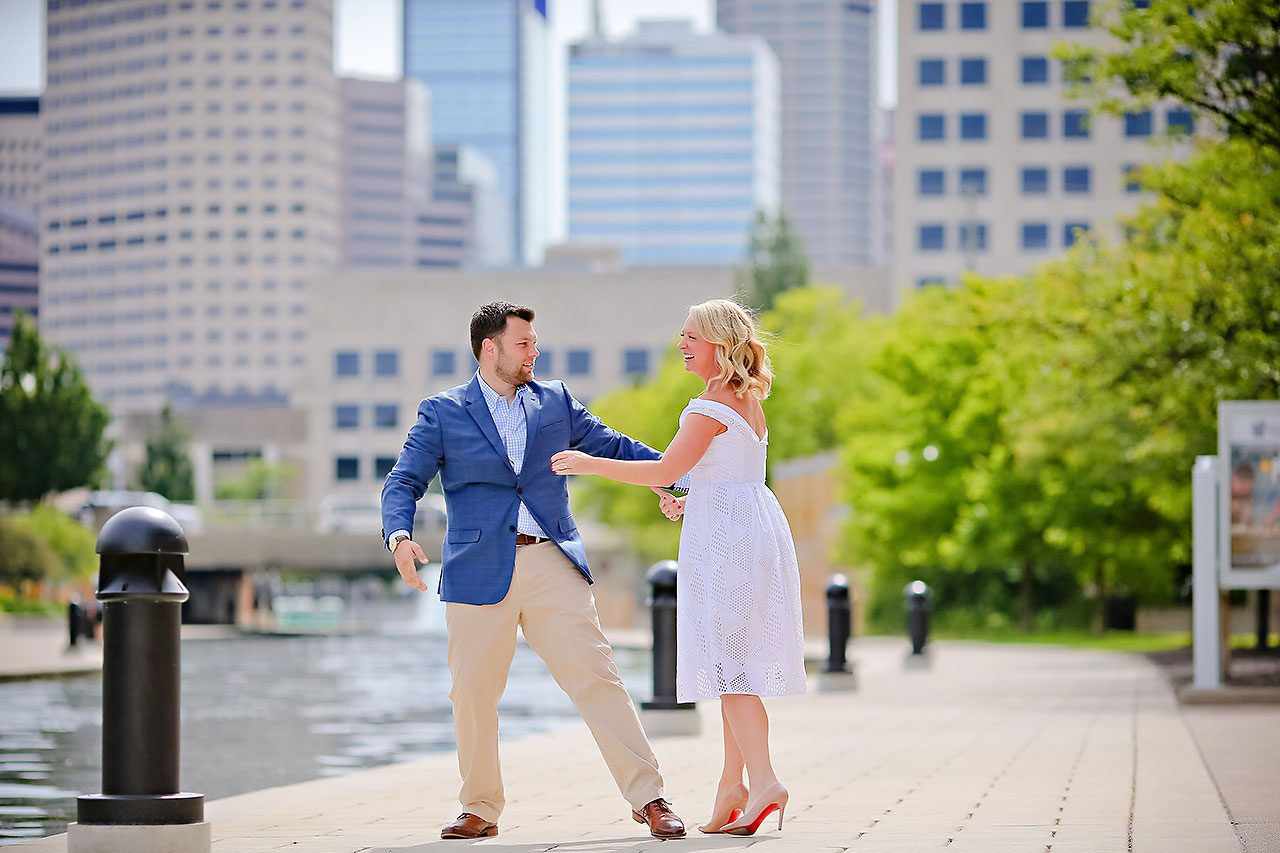 Chelsea Tom Downtown Indianapolis Engagement Session 112