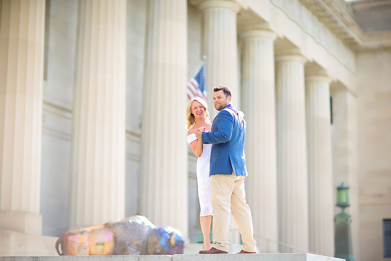 Chelsea Tom Downtown Indianapolis Engagement Session 114