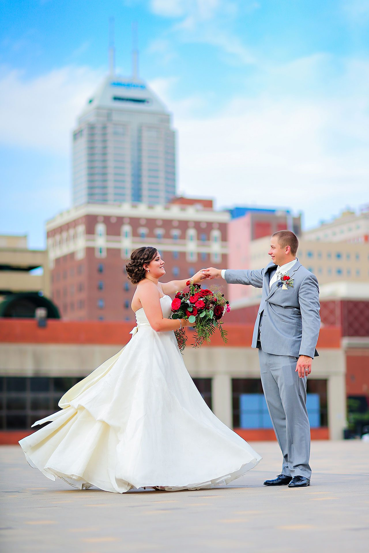Diana Nick Crowne Plaza Indianapolis Wedding 208