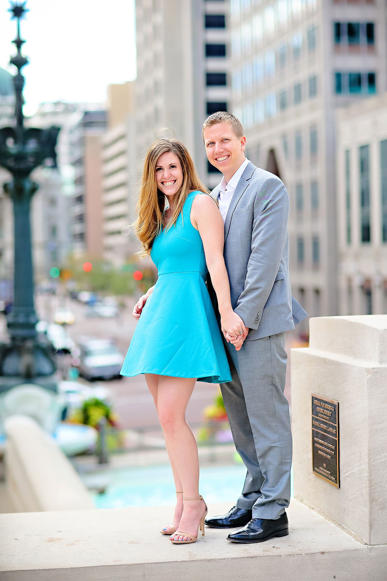Chelsea Jeff Downtown Indy Engagement Session 001