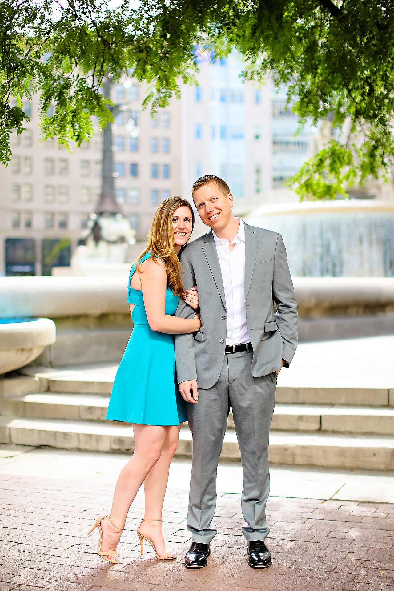 Chelsea Jeff Downtown Indy Engagement Session 005
