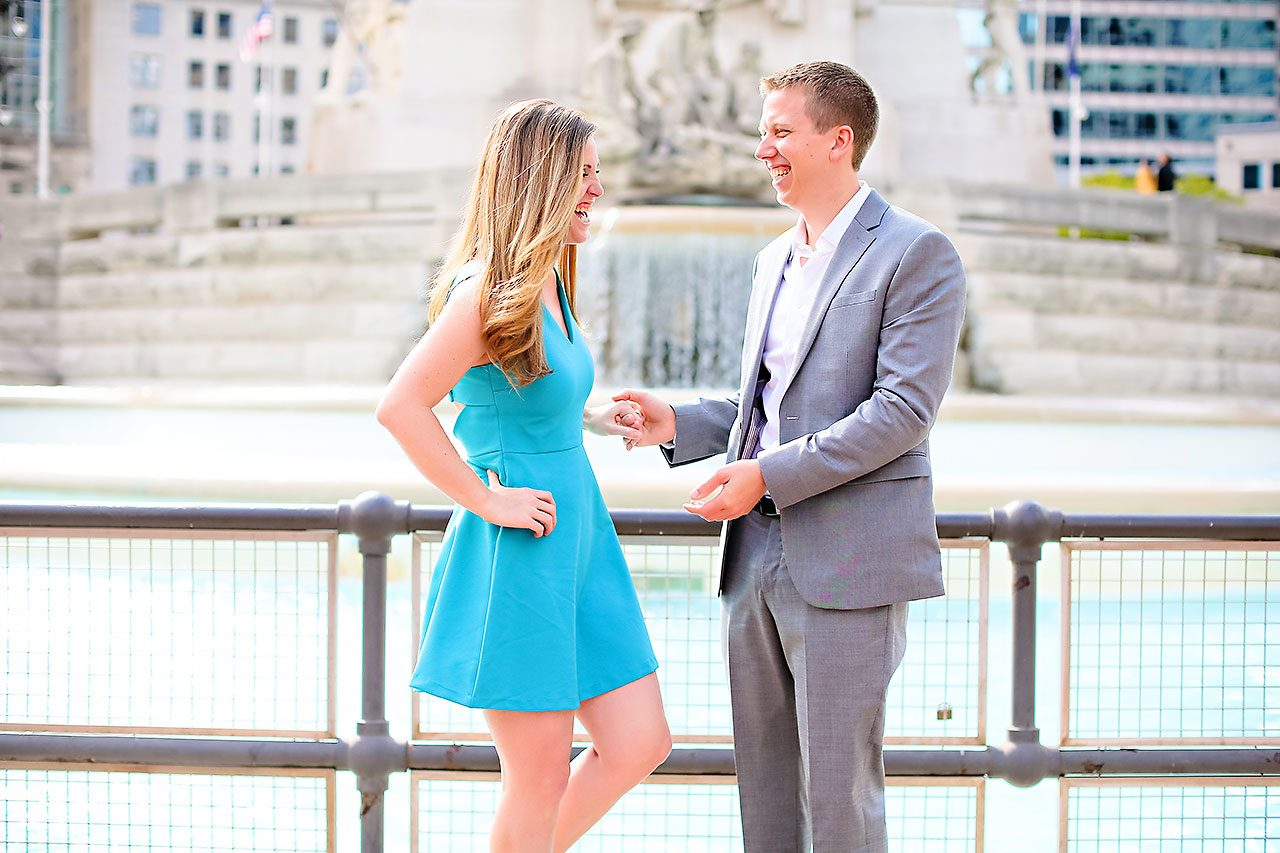 Chelsea Jeff Downtown Indy Engagement Session 043
