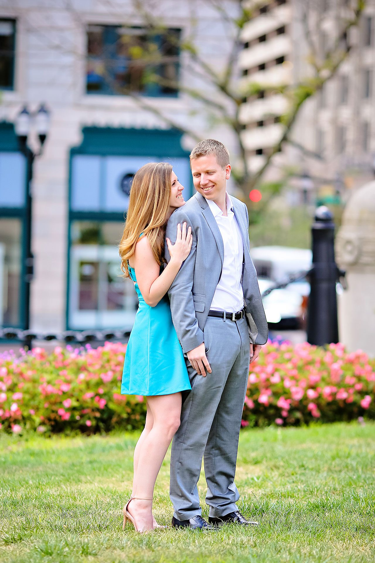 Chelsea Jeff Downtown Indy Engagement Session 052