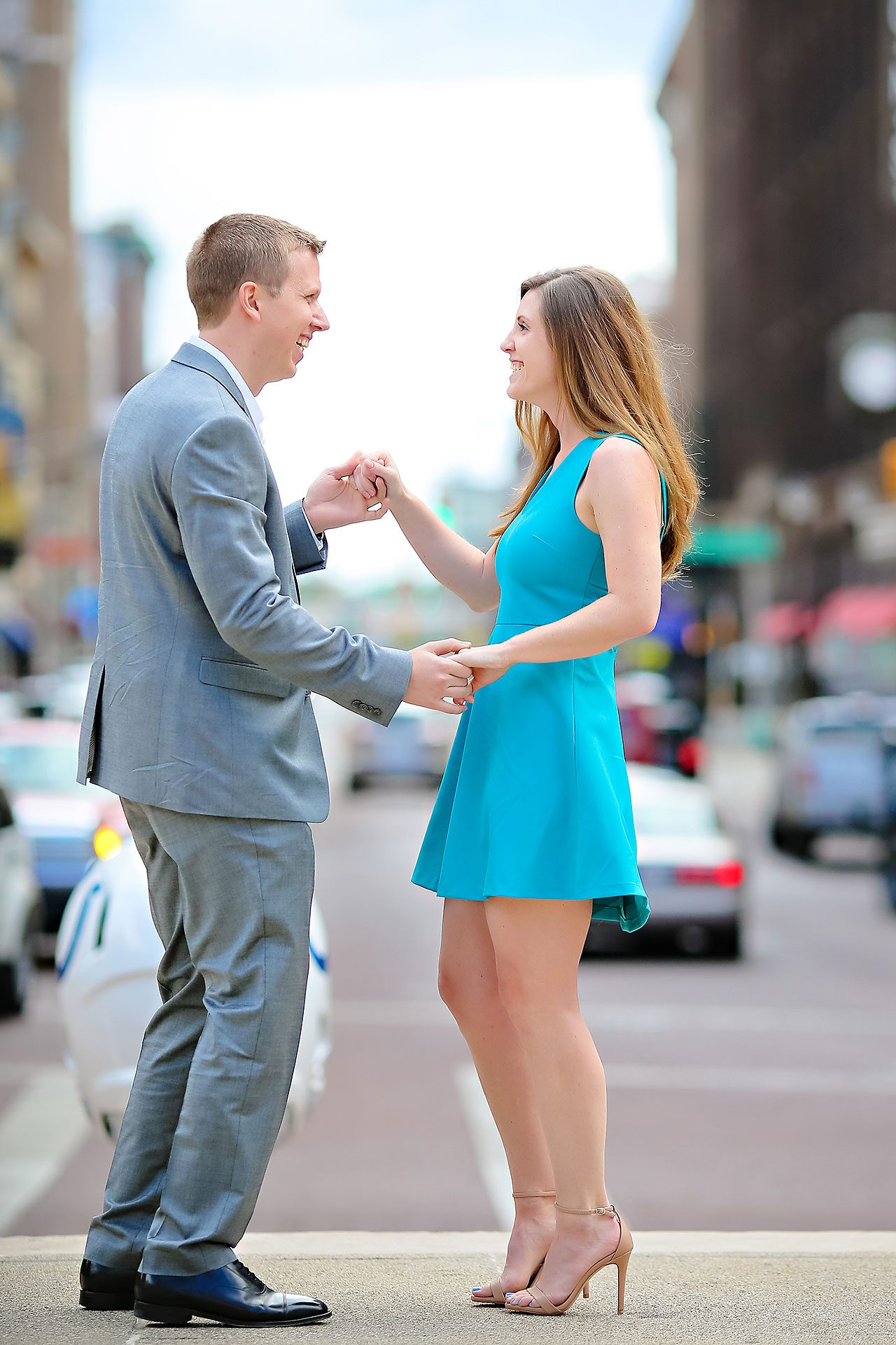 Chelsea Jeff Downtown Indy Engagement Session 091