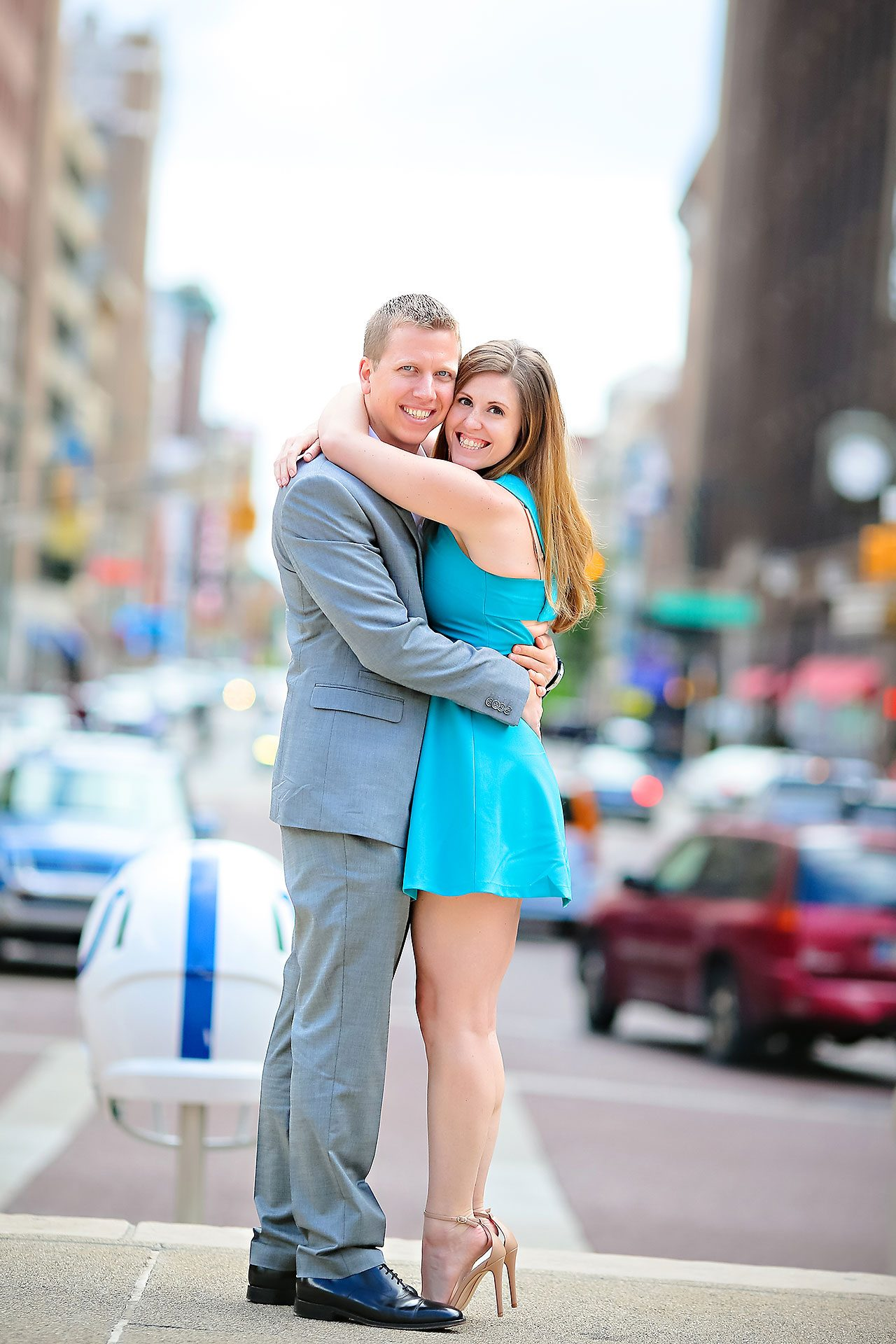 Chelsea Jeff Downtown Indy Engagement Session 111