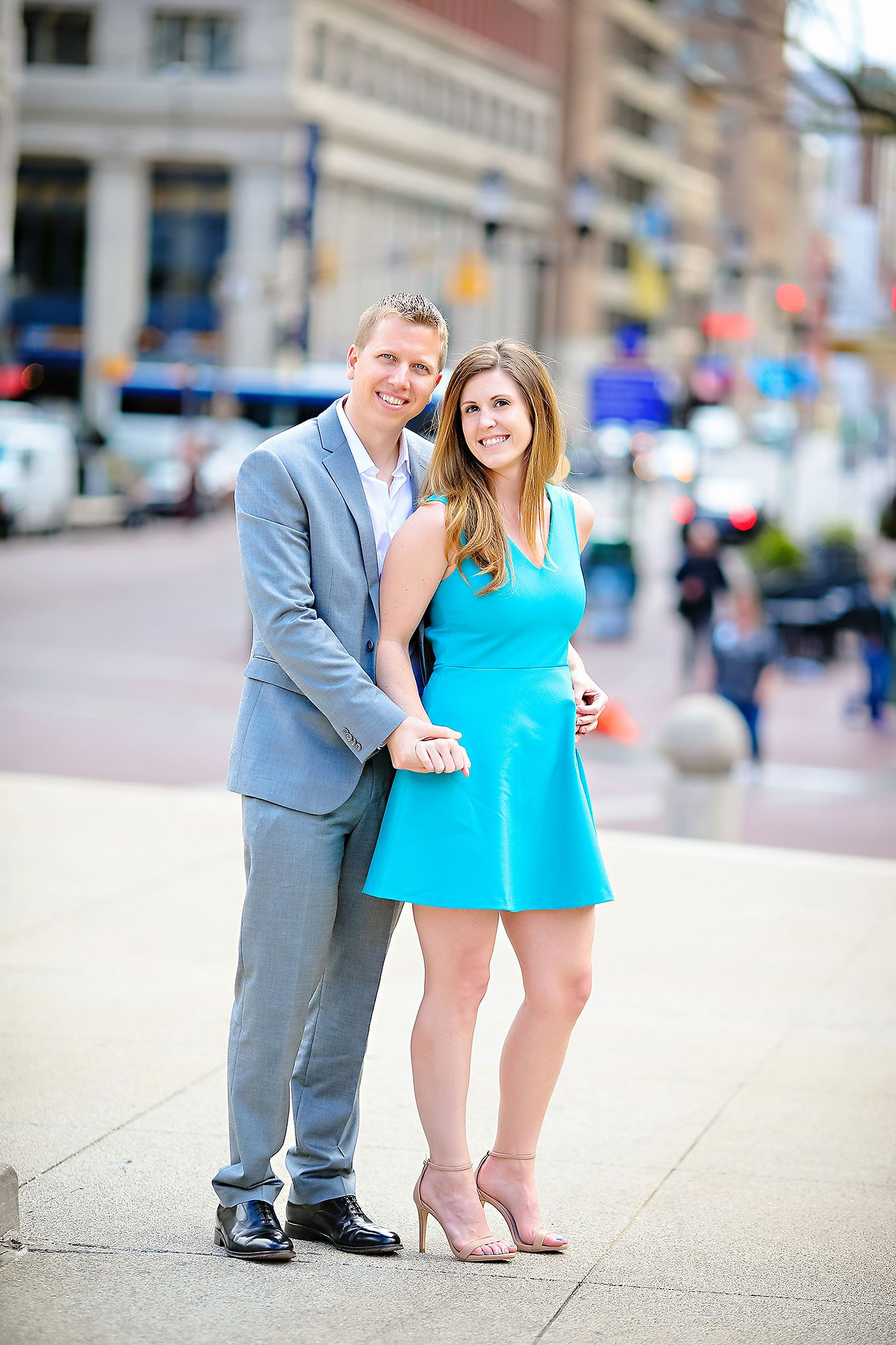 Chelsea Jeff Downtown Indy Engagement Session 128