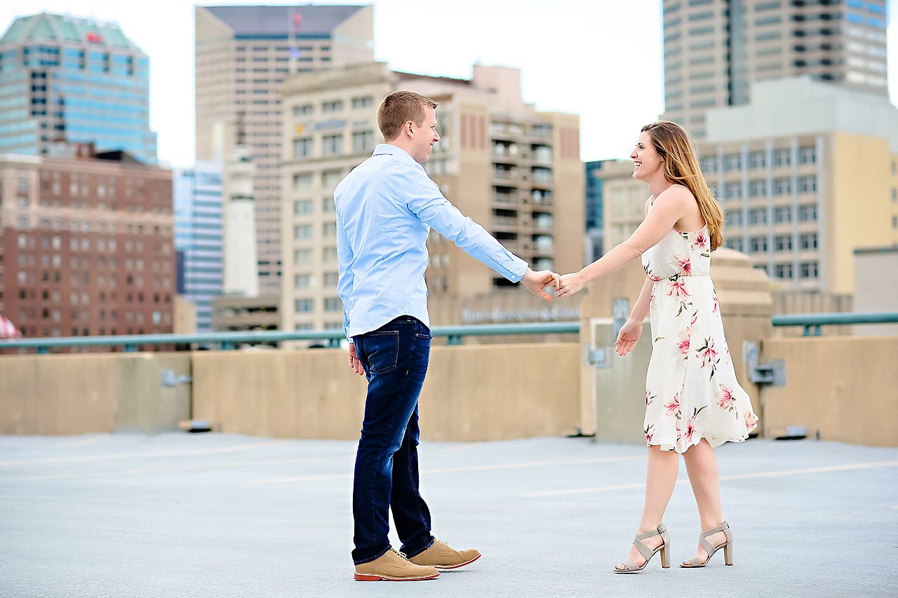 Chelsea Jeff Downtown Indy Engagement Session 133