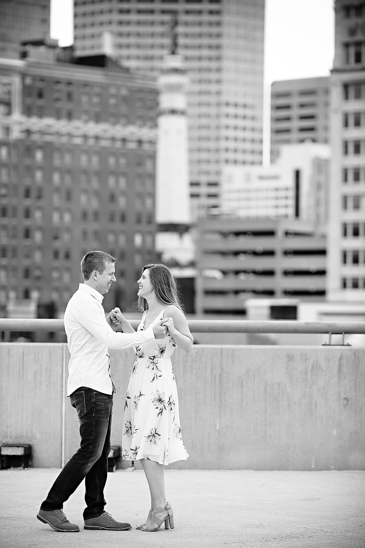 Chelsea Jeff Downtown Indy Engagement Session 135
