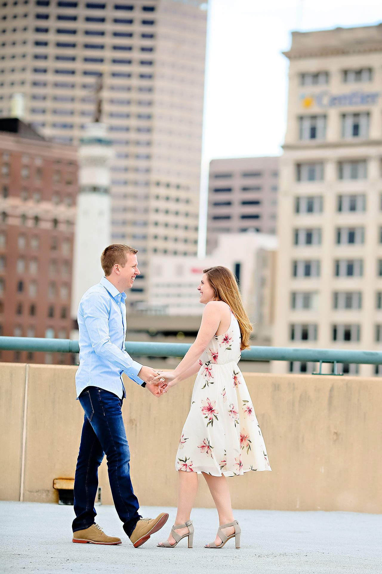 Chelsea Jeff Downtown Indy Engagement Session 140