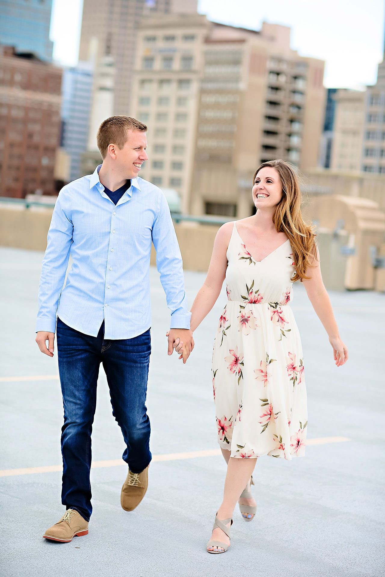 Chelsea Jeff Downtown Indy Engagement Session 143