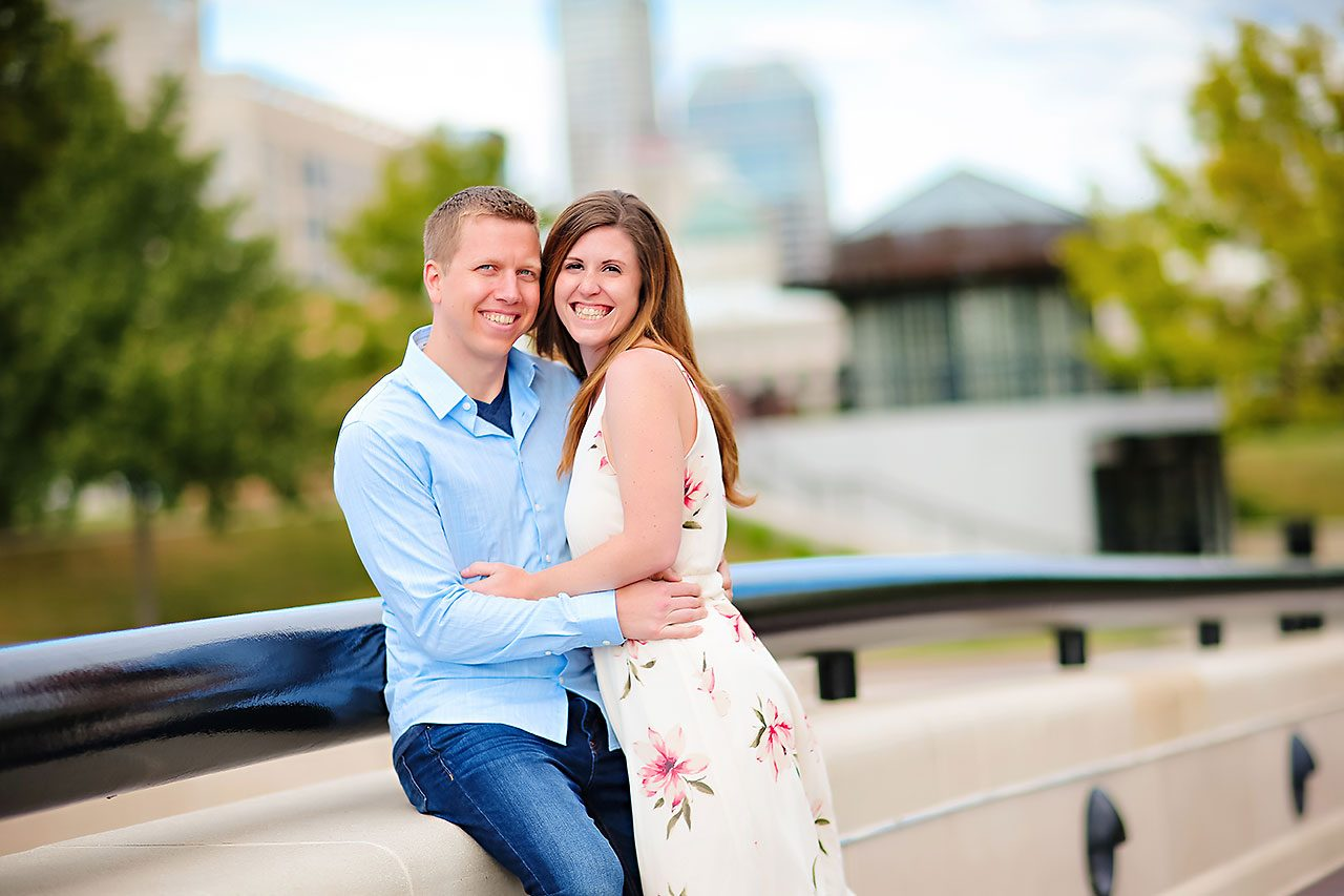 Chelsea Jeff Downtown Indy Engagement Session 180