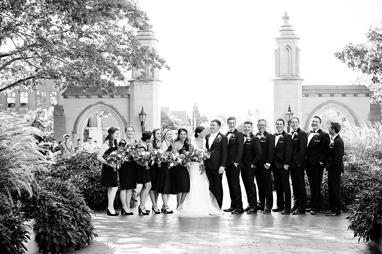 Emily Michael IU Wedding Alumni Hall 182