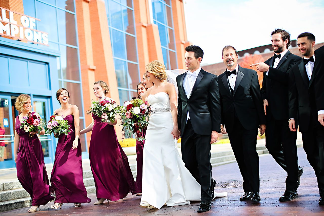 Kayci Matt Indiana Roof Ballroom Indianapolis Wedding 164