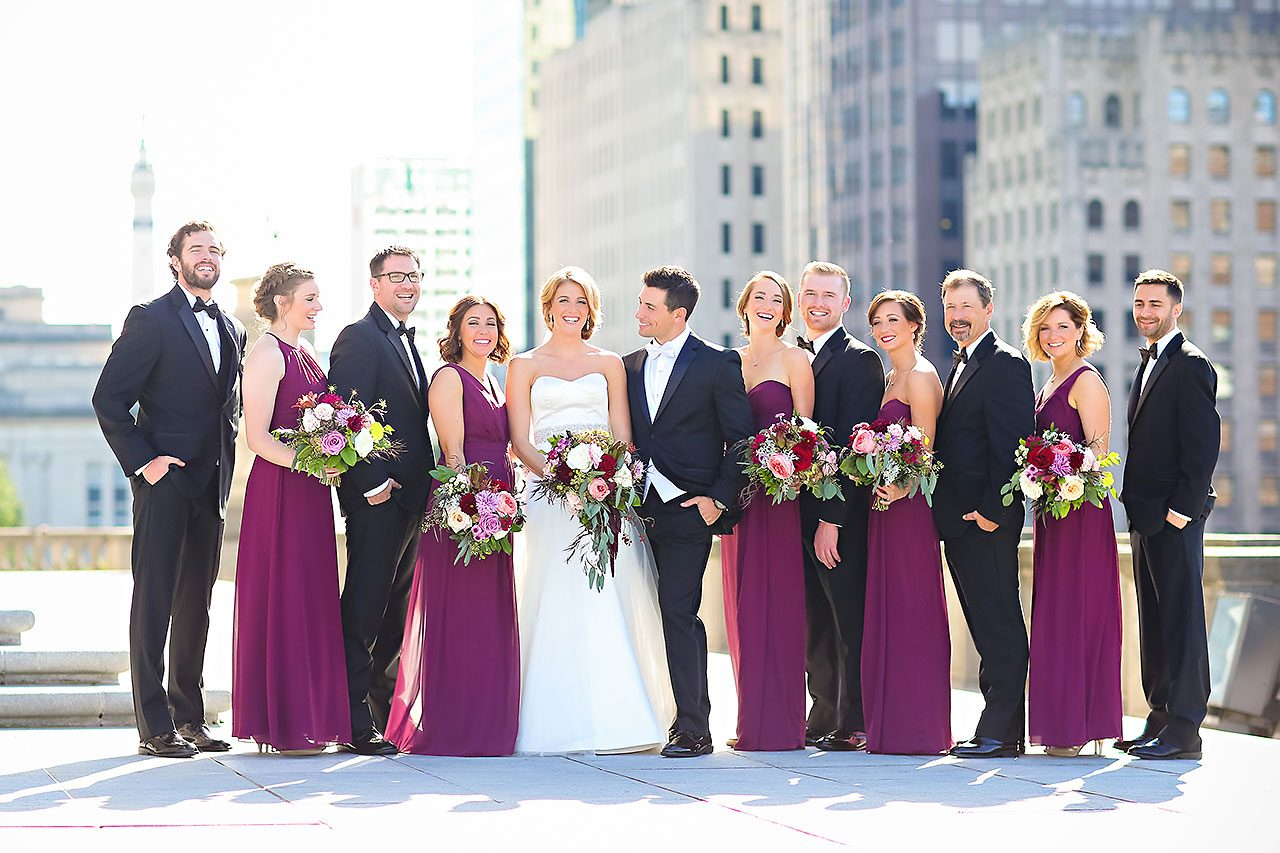 Kayci Matt Indiana Roof Ballroom Indianapolis Wedding 175