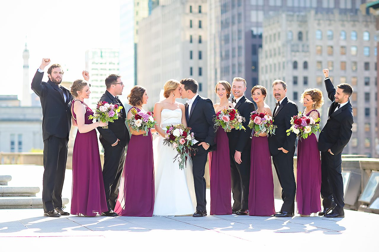 Kayci Matt Indiana Roof Ballroom Indianapolis Wedding 196