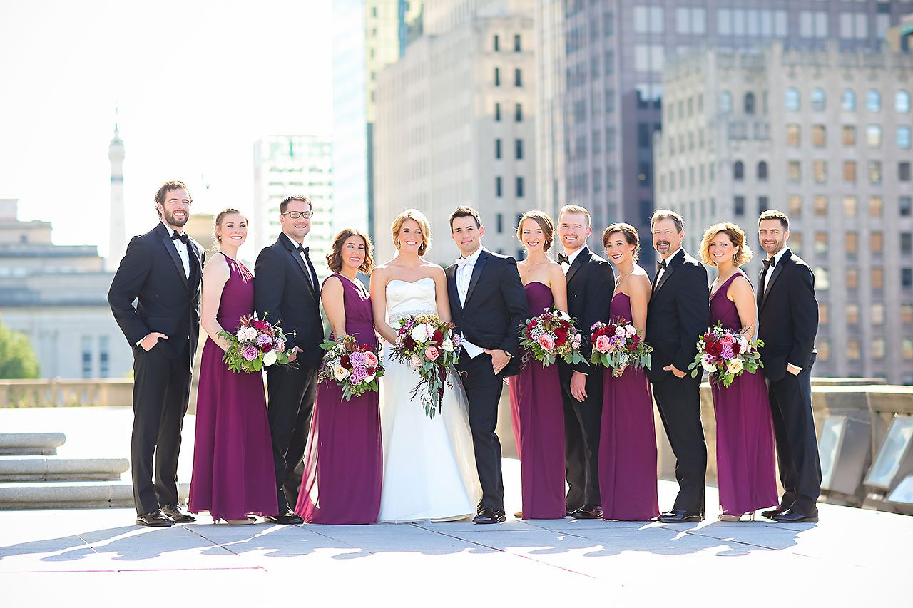 Kayci Matt Indiana Roof Ballroom Indianapolis Wedding 211