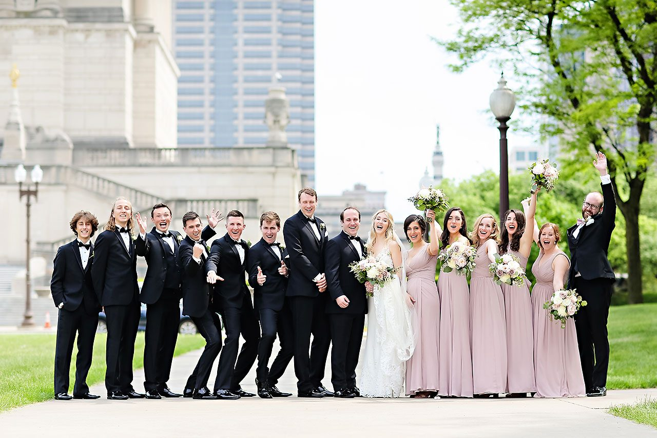 Allison Jeff Union Station Crowne Plaza Indianapolis wedding 169