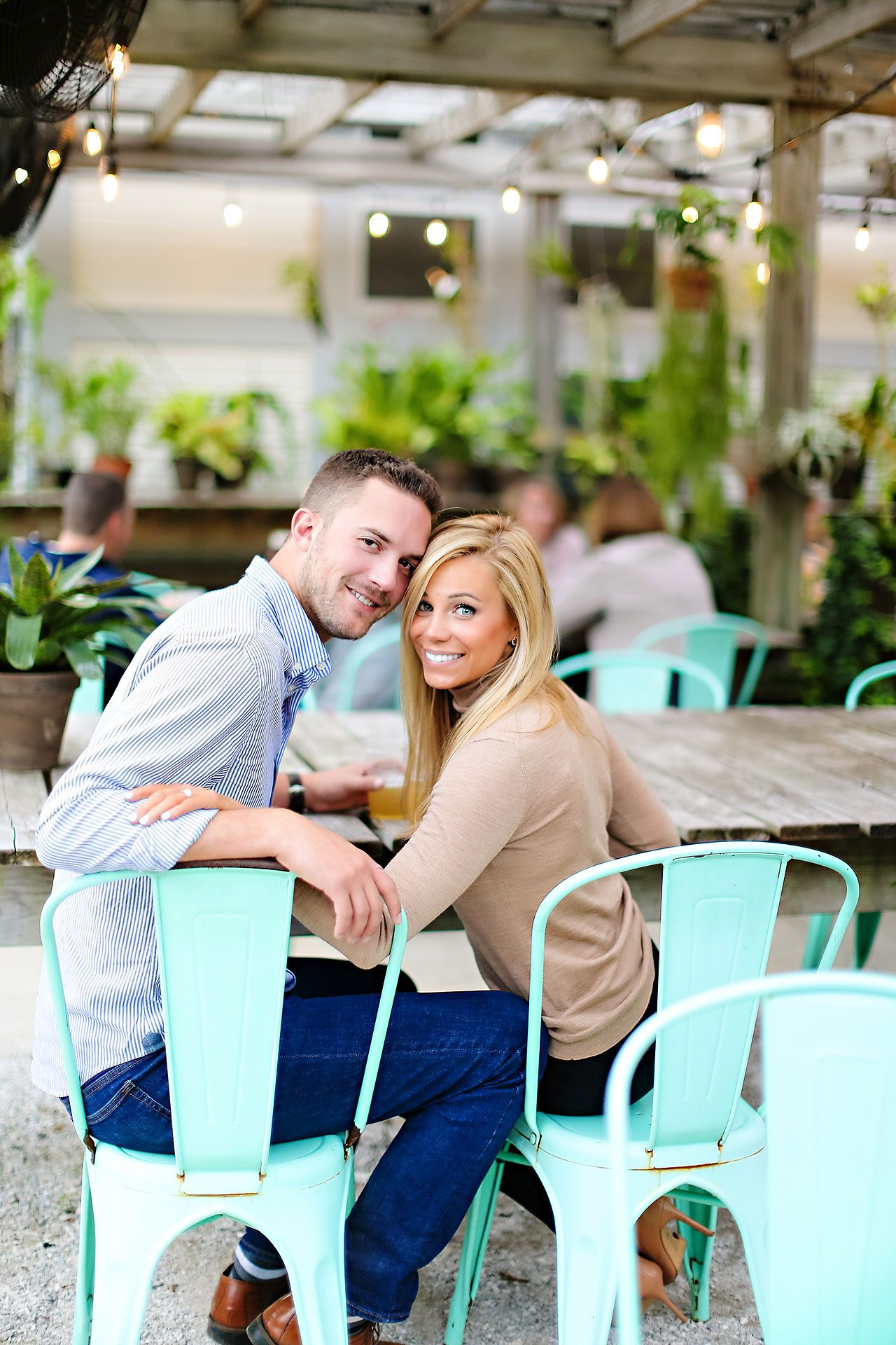 Jennie Mark Downtown Indianapolis Engagement Session 001
