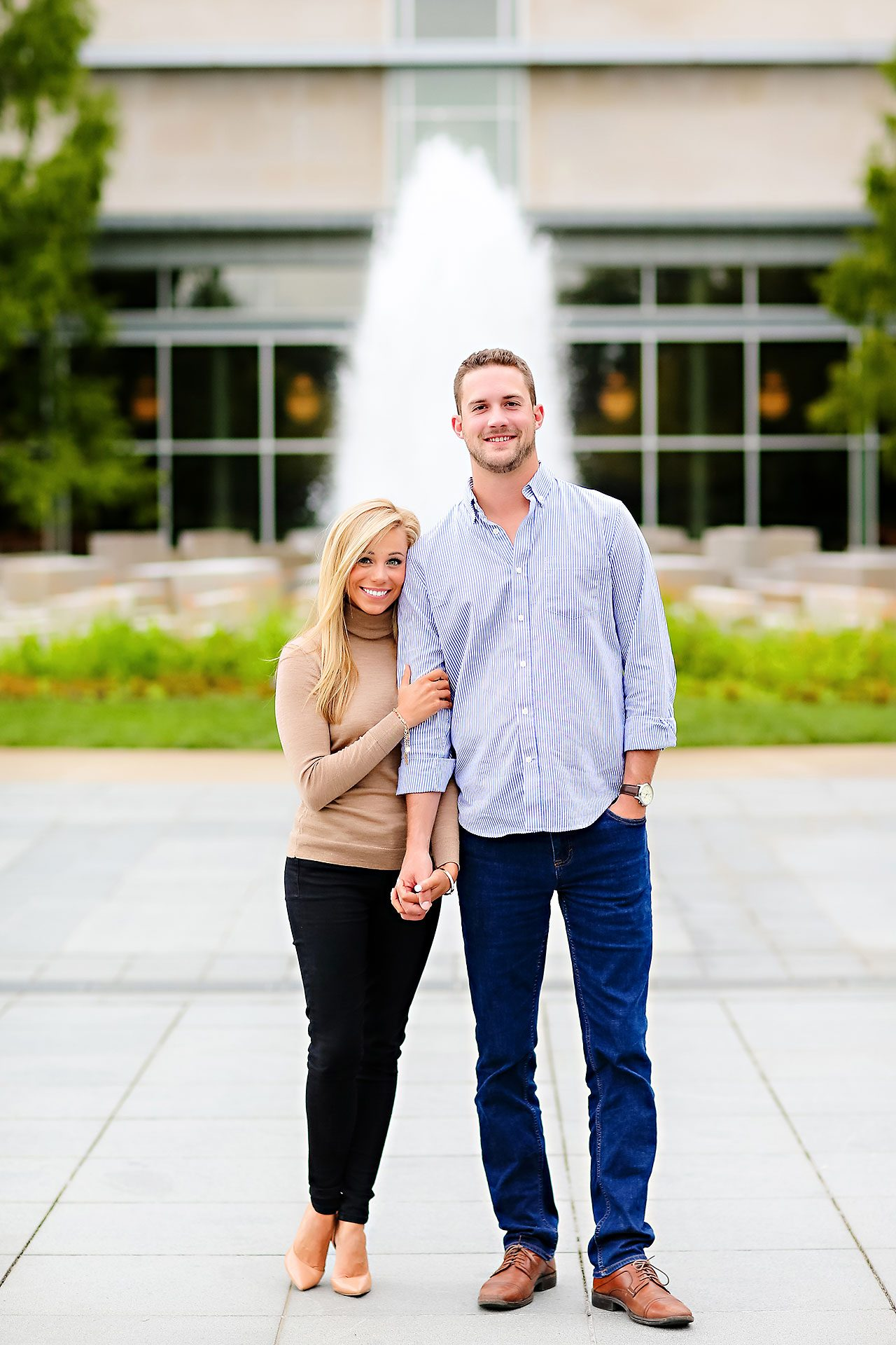 Jennie Mark Downtown Indianapolis Engagement Session 028