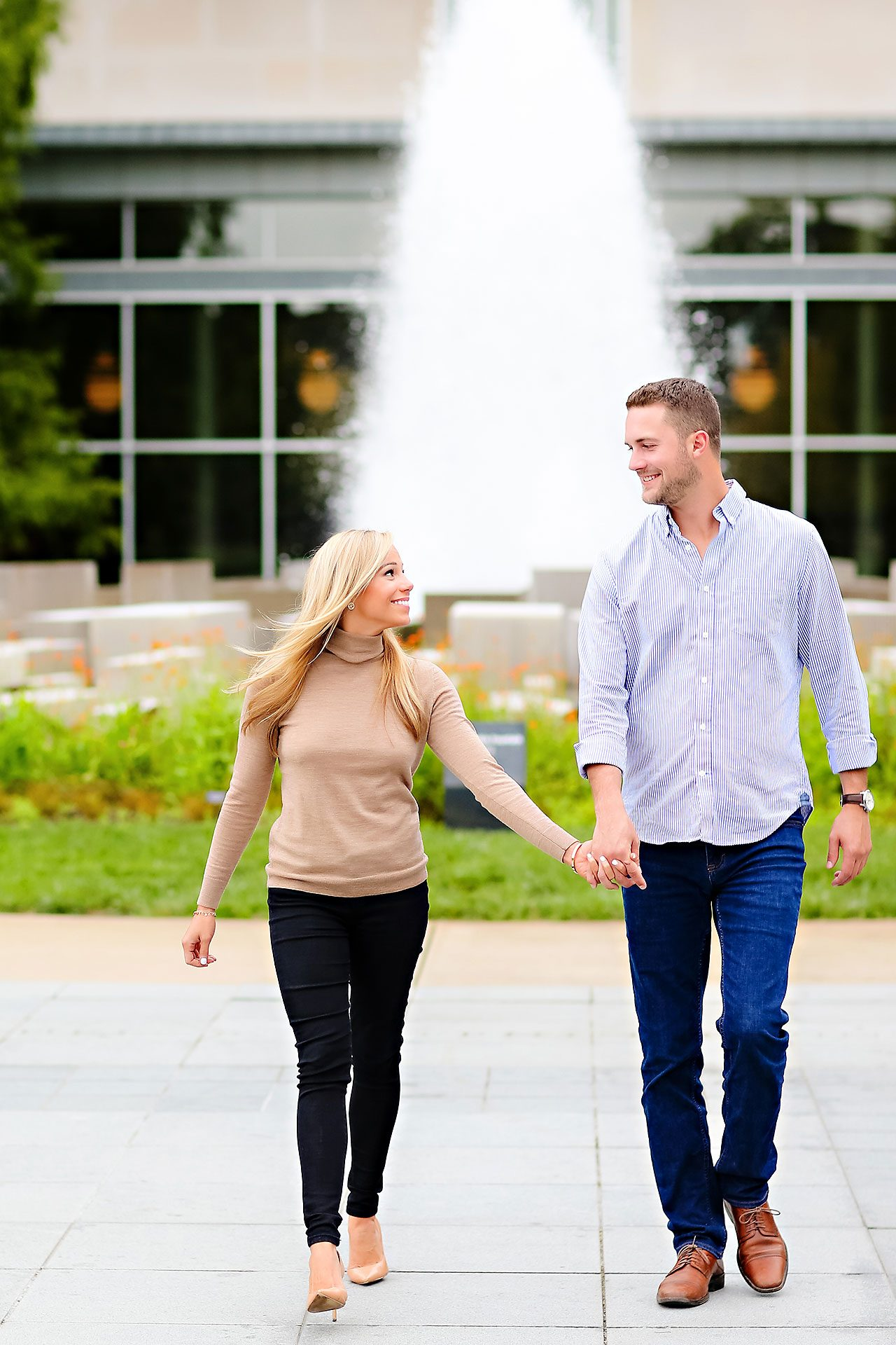 Jennie Mark Downtown Indianapolis Engagement Session 072