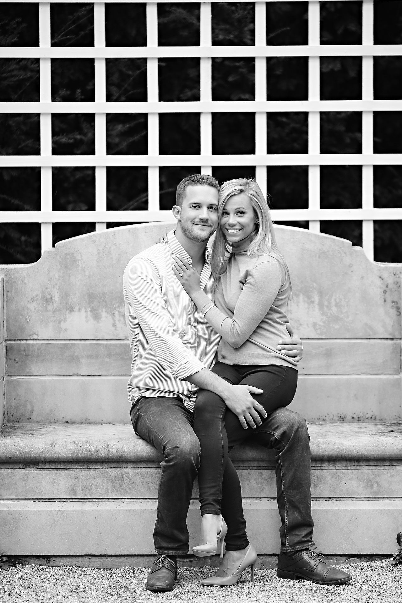 Jennie Mark Downtown Indianapolis Engagement Session 098